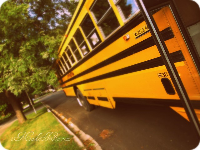 school bus first day