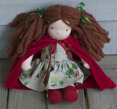 Scarlet (TumbleberryToys) Tags: red doll little handmade traditional waldorf etsy steiner ridinghood tumbleberrytoys