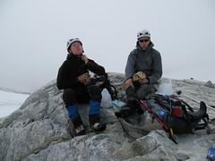 Cypress Peak ascent.. lunch time on the mountain.. (iwona_kellie) Tags: friends summer snow canada rock britishcolumbia anniversary rocky glacier celebration summit scramble cypresspeak roecreek squamishcheakamusdivide 2083meters returnafter4years