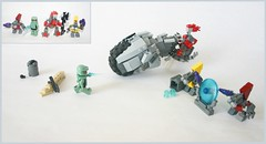 Lego Halo: Covenant Attack! (tin) Tags: 2 3 wheel set 1 lego bricks alien halo grenades sword guns shield ba build bf grunt masterchief brute atin covanent brickarms brickforge