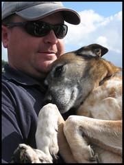 Love is a Good Dog (Maggie Galbraith) Tags: red dog love hug sweet kaiser heeler
