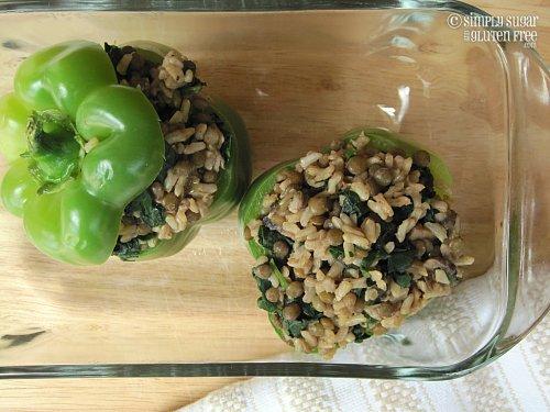 Mushroom & Sage Stuffed Bell Peppers