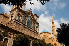 St. George Maronite Cathedral & Al-Amin Mosque (ion-bogdan dumitrescu) Tags: lebanon beirut bitzi ibdp mg5309 gettyvacation2010 ibdpro wwwibdpro ionbogdandumitrescuphotography