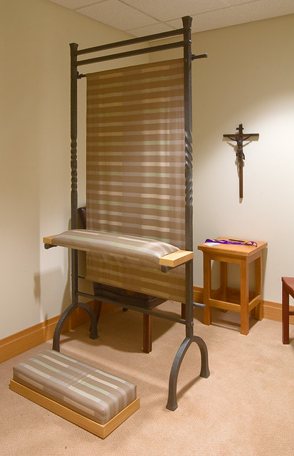 Christian Brothers College High School, in Town and Country, Missouri, USA - confessional in chapel