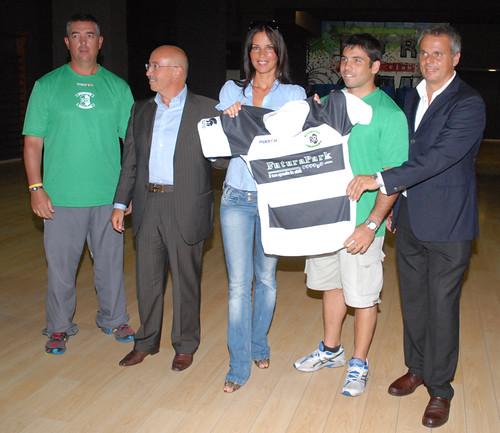 Daniel de Villiers, Abbondanza, Mosetti, Leonardi e Celleno con la maglia della Rugby Roma - foto DAK
