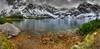 Czarny Staw Gąsienicowy  1624 m n.p.m.  - Panorama (Mariusz Petelicki) Tags: panorama poland polska hdr tatry tatramountains podhale pejzaż czarnystawgąsienicowy mariuszpetelicki 5x3xp