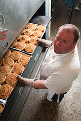 _DSC5211 (stockphoto2) Tags: food work bread baker employment wheat commercial bakery buns employee consumer cinamon