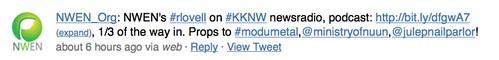 nwen's #rlovell on #KKNW