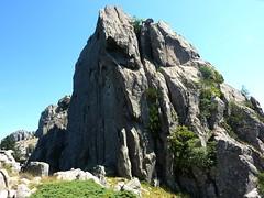 Dans la traversée Furcata - Quercitella : belle paroi sans nom avant Punta di Quercitella