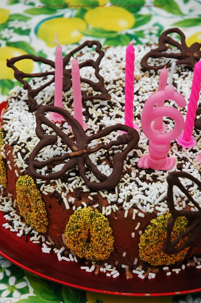 Torta di compleanno Volo di farfalle