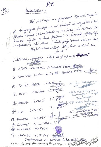 One of nine pages of signatures