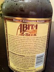 Abita Amber Back Label