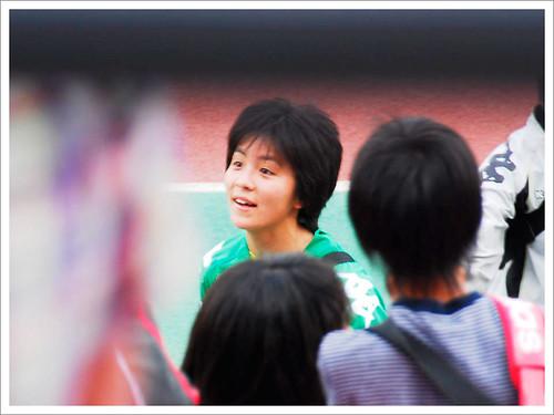 岩渕真奈とファン@日テレ・ベレーザ VS INAC神戸_201005