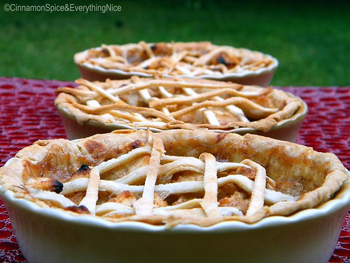 Three Farm Fresh Mini Apple Pies for Three Little Bears