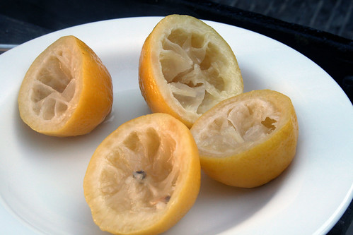 Cooked lemon halves