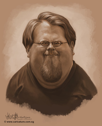 Schoolism Assignment 4 - monochromatic value painting of Nate