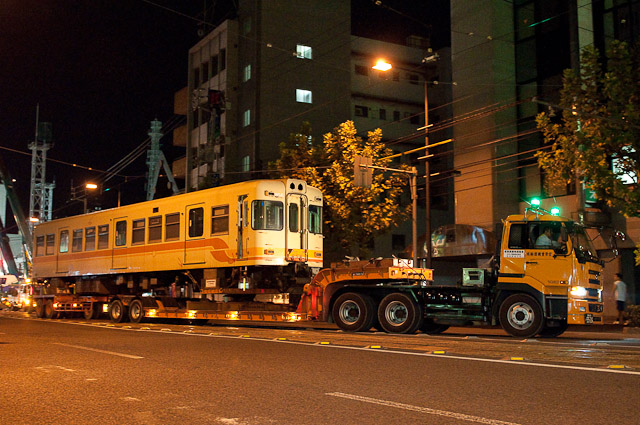 伊予鉄道800系 クハ856 廃車搬出