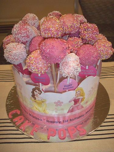 Bouquet of Pink Cake Pops - close up