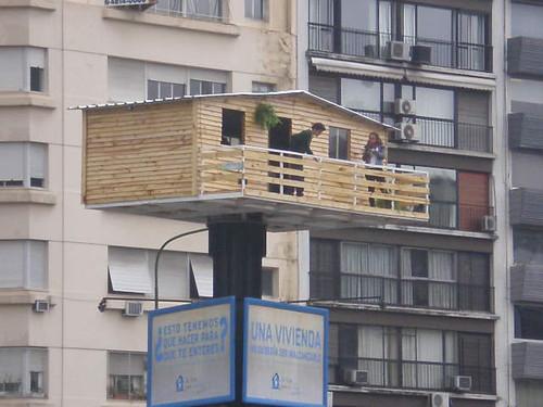 una vivienda en el aire