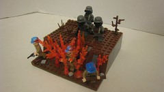 Clearing the Trenches (The Brick Guy) Tags: world war lego flamethrower trenches warfare i brickarms brickforge