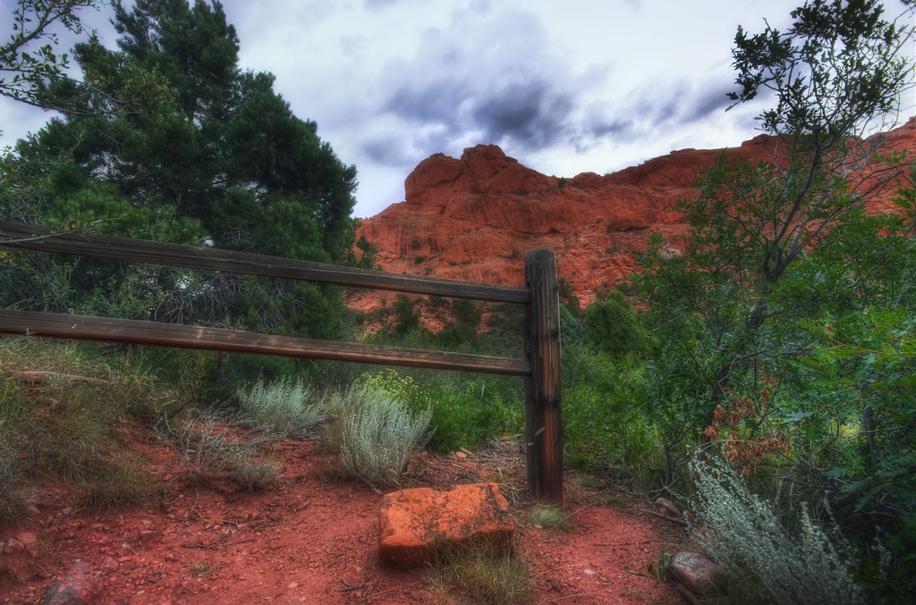 Red Rocks and Fence
