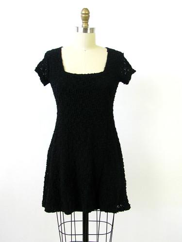VINTAGE 90's MESH CIRCLE PATTERN DRESS
