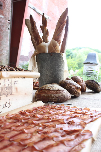 bread and charcuterie