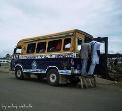 Dakar,sngal (Eddy Delhalle) Tags: mer bus car by night de taxis senegal dakar nuit