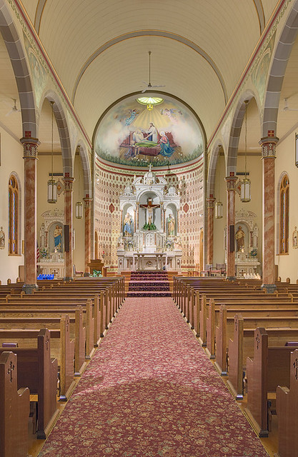 Saint Joseph Roman Catholic Church, in Josephville, Missouri, USA - nave