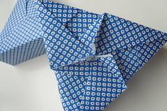 Triangular Origami Box (Handmade by Deb) Tags: paper japanese origami box handmade craft modular giveaway bluewhite unit triangular tomokofuse fabulousorigamiboxes