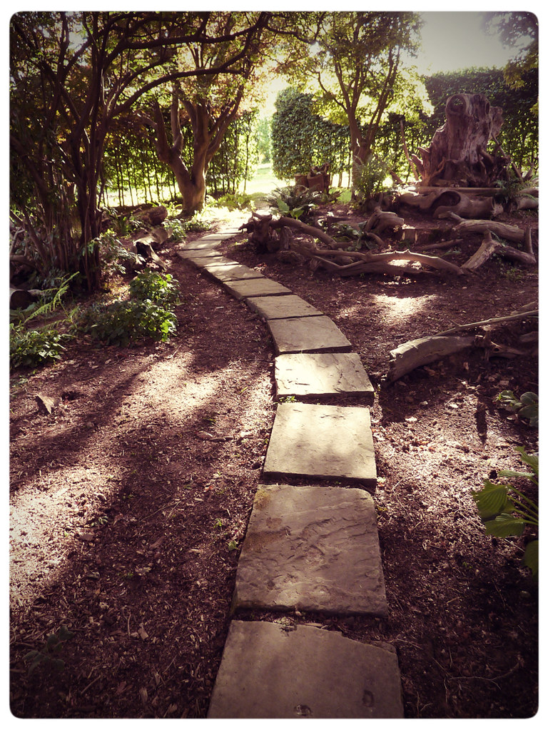Herstmonceux Medieval Festival ~ a path in the woods