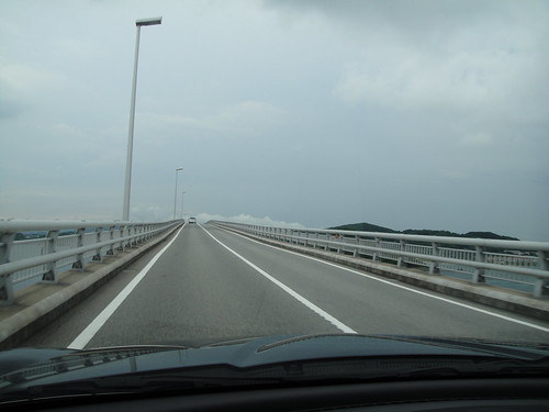 角島大橋走行中