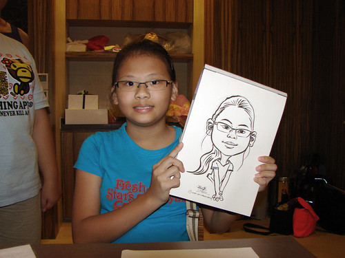 Caricature live sketching for birthday party 11092010 - 7