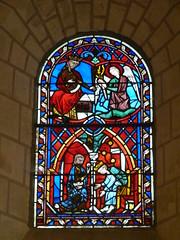 Vitrail du XIIIe s. Chapelle Saint-Georges. Rochecorbon (Indre-et-Loire), 18.09.2010.