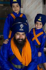 Lion & his cubs (gurbir singh brar) Tags: blue proud happy spirit sikhs punjab bana 2010 turbans khalsa nihangs pathlawa ajitsingh gurbirsinghbrar fatehsingh swaranjitsingh