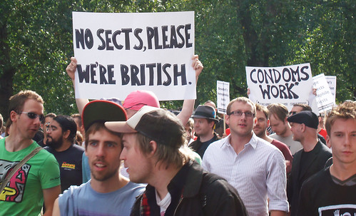 """No sects please, we're British"""