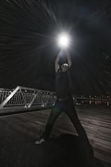 (maskedcard) Tags: night pier singapore tripod sb600 flare strobe sigma1020mm nikond90 marinabaysands