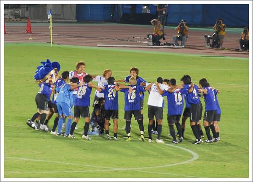 勝利後の歓喜@ガンバ大阪 VS セレッソ大阪