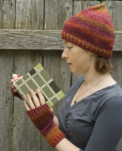 Handknit Fingerless Mittens and Hat
