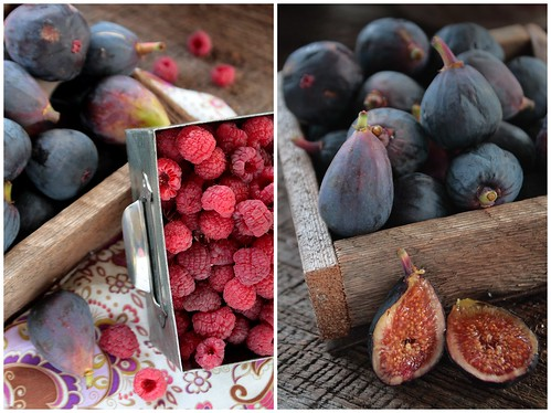 Figs and Raspberries Diptych