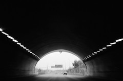 """""""a light at the end of the tunnel"""" (Rita Baleia) Tags: bw ruta tunnel pb tunel om2 baleia ilford400 ritabaleia"""