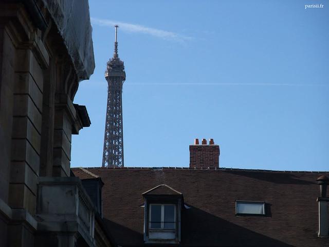 La Tour Eiffel est très présente