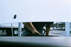 somervile ave (kategilbert_) Tags: cambridge usa film car 35mm massachusetts garage newengland away andrew