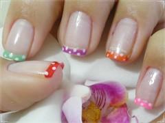 Unha da semana -  dot color (Mhilka ♥) Tags: color art nail dot bolinha colorida unha francesinha