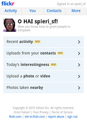 Flickr Mobile Homepage