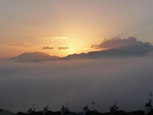 amanecer con niebla