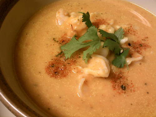 sweet potato coconut milk shrimp soup