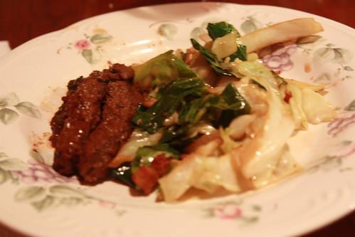 Korean Beef with Stir-fried Cabbage