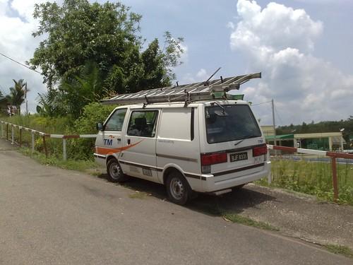 Telekom Malaysia working car