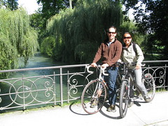 Cycling Couple in Munchen Photo